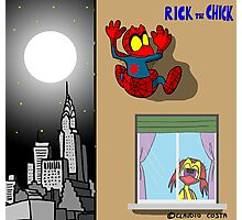"""Rick the chick """"SPIDER CHICK"""" Photographic Print"""