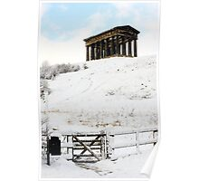 Penshaw Monument in the Snow Poster