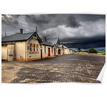 Heritage Listed Cooma Railway Station Carpark Side Poster