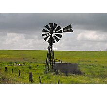 Landscape - Classic Aussie Windmill - Naracoorte, South Australia Photographic Print