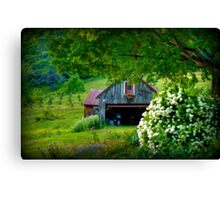 Summer Views of a New Hampshire Barn Canvas Print