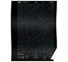 USGS Topo Map Oregon White Rock 20110811 TM Inverted Poster