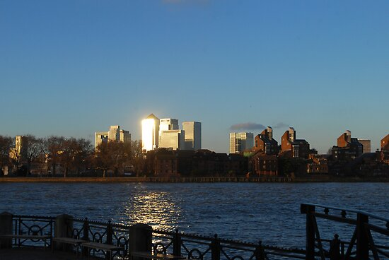 Sunlight on Canary Wharf by Karen Martin IPA