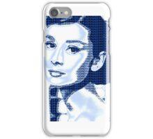 Audrey Hepburn Classic Portrait Blue  iPhone Case/Skin