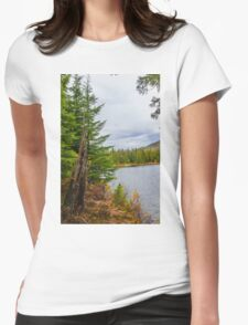 Echo Lake, Revelstoke Womens Fitted T-Shirt