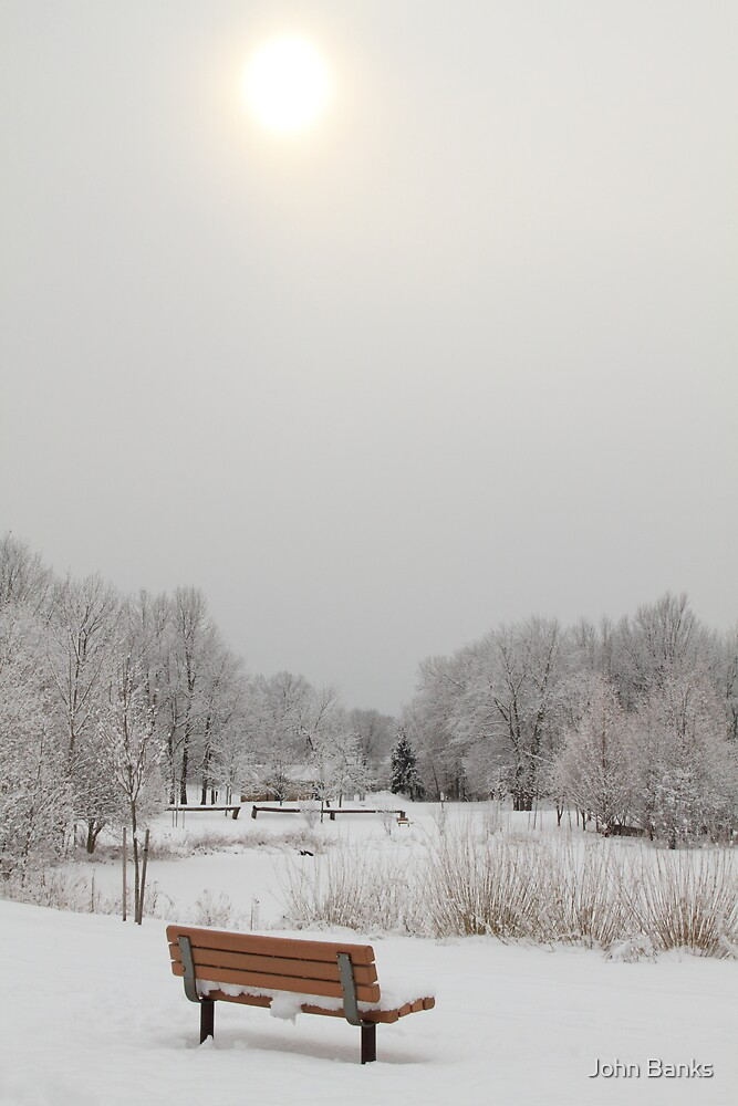 Snow, Sun and no-one by John Banks