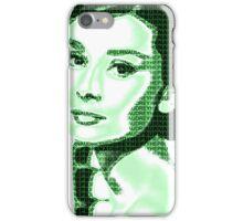 Audrey Hepburn Classic Portrait Green  iPhone Case/Skin
