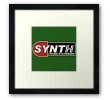 Vintage Synth Framed Print