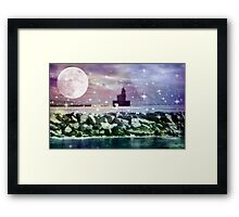 By the light of the moon ©  Framed Print