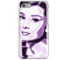 Audrey Hepburn Classic Portrait Purple  iPhone Case/Skin