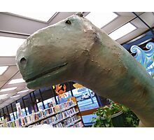 01-08-11 Library Dinosaur With True Grit Photographic Print