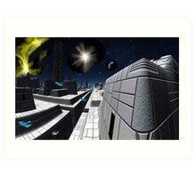 Star Cruiser Excalibur Art Print