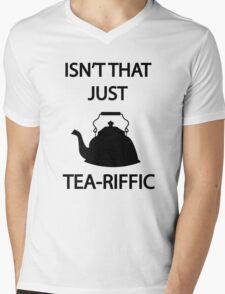 Isn't that just TEA-riffic Mens V-Neck T-Shirt