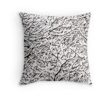 Winter in Austria Throw Pillow