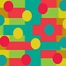 A Little Dot and Dat (Abstract Pattern) by Charldia