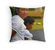 On the Way to Church Throw Pillow