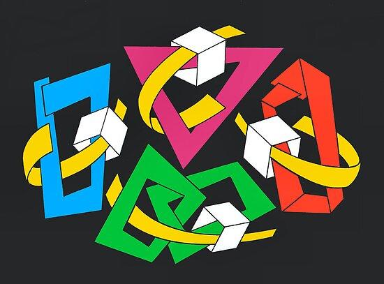 MAGIC BOXES - BRUSH AND GOUACHE by RainbowArt