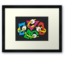 MAGIC BOXES - BRUSH AND GOUACHE Framed Print