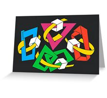 MAGIC BOXES - BRUSH AND GOUACHE Greeting Card
