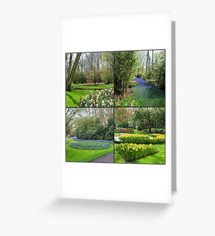 A Dutch Spring Collage - Keukenhof Gardens Greeting Card