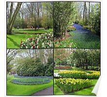 A Dutch Spring Collage - Keukenhof Gardens Poster