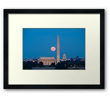 Moonrise Over Washington, DC Framed Print