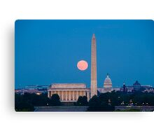 Moonrise Over Washington, DC Canvas Print