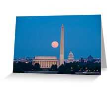 Moonrise Over Washington, DC Greeting Card