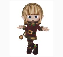 Cute Happy Toon Christmas Elf Kids Clothes