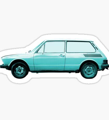 VW Brasilia in blue. Sticker