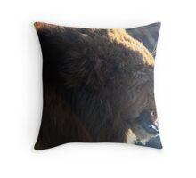 Yawning Lion Throw Pillow