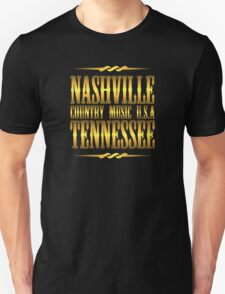 Gold Nashville  Tennessee Country Music Unisex T-Shirt