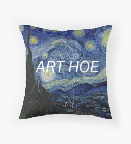 art hoe Throw Pillow