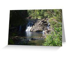 """ Peg Leg Falls- Bagby River, OR Greeting Card"