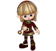 Cute Toon Christmas Elf Photographic Print