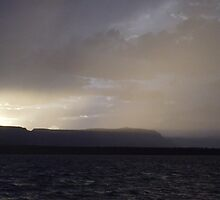 """ Misty and Calm- Lake Powell, AZ "" by NikkiLoomis"