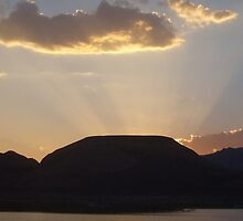""" Droping Sun- Lake Powell, AZ  by NikkiLoomis"
