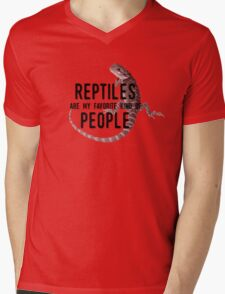 Reptiles Are My Favorite Kind of People Mens V-Neck T-Shirt