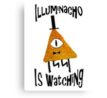 Bill Cipher Dorito Illuminacho Is Watching - Black Canvas Print