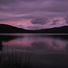 sunset on Tullah's Lake Tullabardine by gaylene