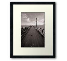 Pier BW Framed Print
