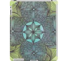 mandala ink on watercolor green turqoise OneMandalaAday iPad Case/Skin