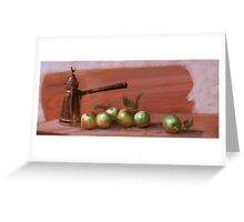 Copper and Green Apples - Mobile Digital Painting Greeting Card