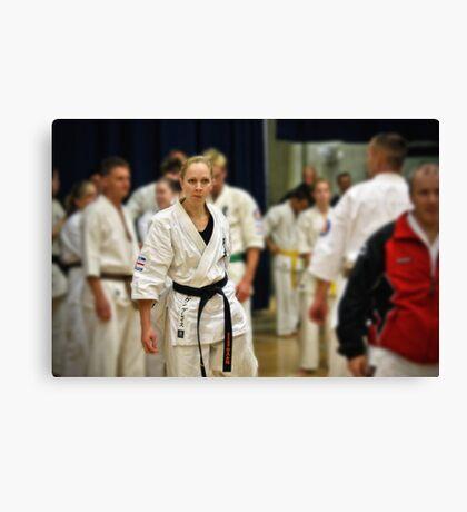Karate Girl Canvas Print