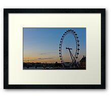 The Eye at Sunset Framed Print