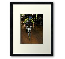 Downhill Racing at Highland Mountain Bike Park Framed Print