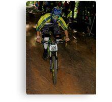 Downhill Racing at Highland Mountain Bike Park Canvas Print
