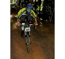 Downhill Racing at Highland Mountain Bike Park Photographic Print