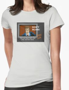 Doctor Who - Don't Blink Womens Fitted T-Shirt