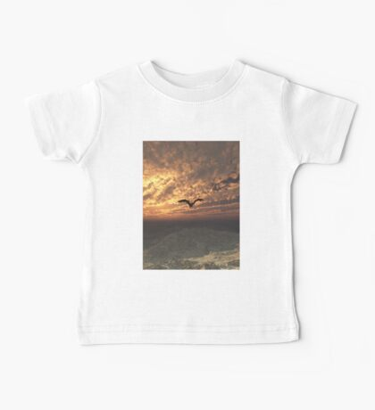 Dragon Flying at Sunset Baby Tee